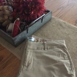 Old Navy khaki straight legs pants. Size 2
